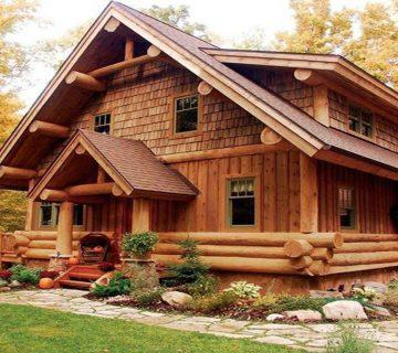 طراحی ویلا چوبی