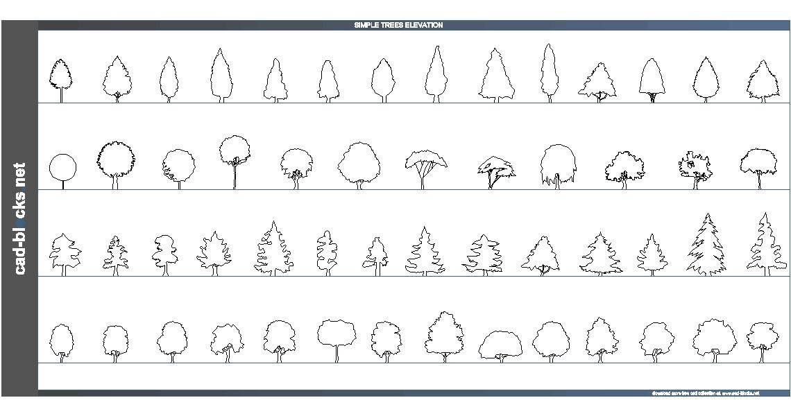 دانلود اتوکدی برش درخت
