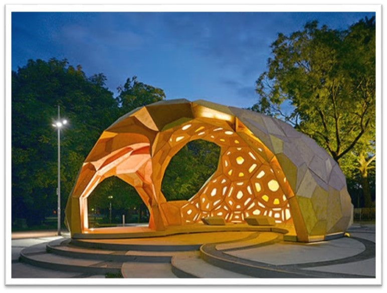 استفاده از ساختار کندو در پارکها جهت استراحت شهروندان
