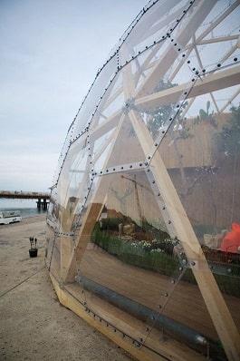 استفاده از معماری کندو در نما و فضای داخلی
