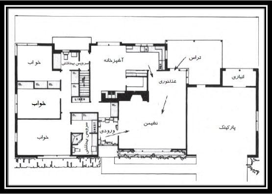 نقشه ریزفضای مسکونی