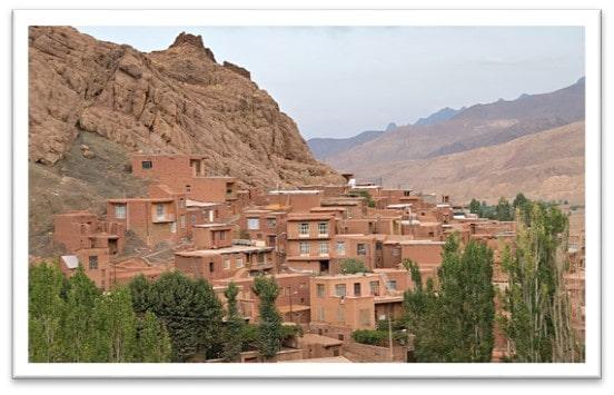 معماری روستای ابیانه