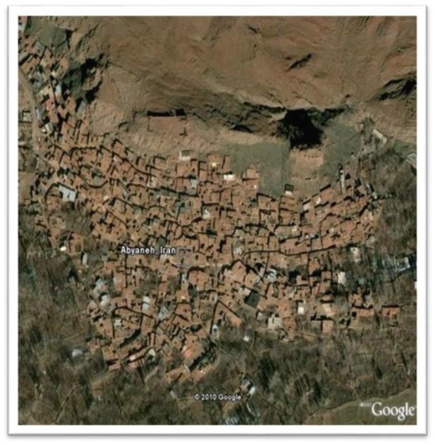محیط جغرافیایی روستای ابیانه