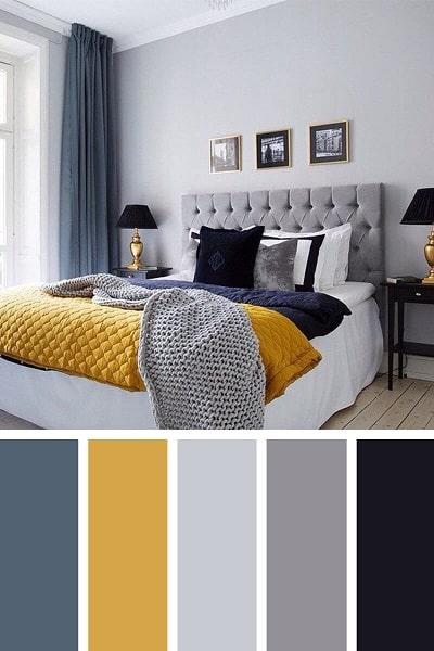 عکس اتاق خواب رنگ زرد