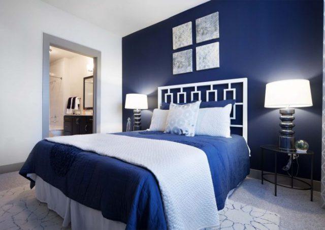 عکس اتاق خواب آبی
