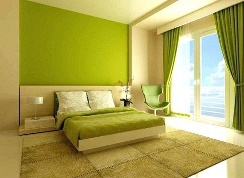 عکس اتاق خواب سبز
