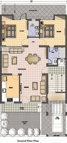 پلان ویلا دو طبقه