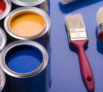 نقاشی ساختمان با رنگ اکریلیک