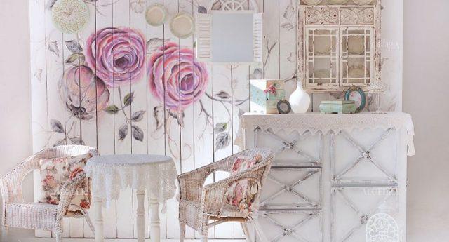 دکور دیوار گلدار