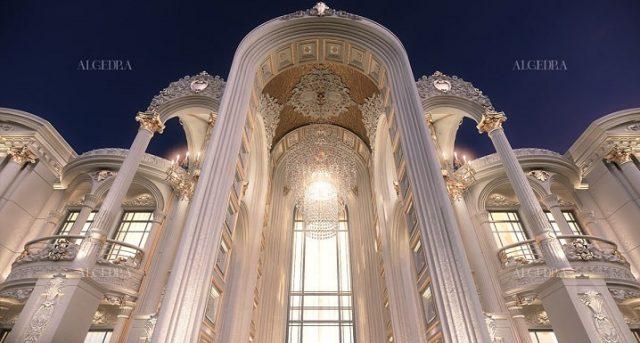 تزئین مجلل ورودی درب ویلا